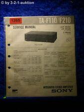 Sony Service Manual TA F110 / F210 Amplifier  (#1265)