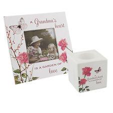 Grandma Candle Holder & Photo Frame Gift set