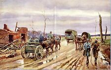 1916 sur la route Front de la somme * aquarelles Berne-Bellecour * était Artist * ww 1