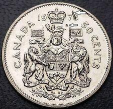 1978 Canada 50 Cents Half Dollar **Defective Planchet Error Coin** Great Detail
