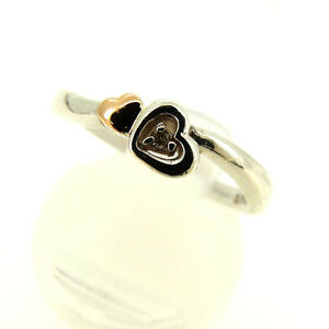 courreges ring Silver Gold Woman Authentic Used Q199