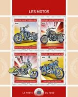 Togo - 2019 Motorcycles on Stamps - 4 Stamp Sheet - TG190123a