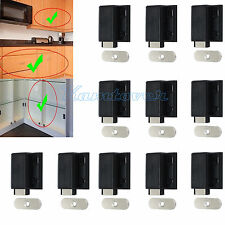 10x Push To Open Touch Release Magnetic Cabinet/Cupboard Door Catch Latch Hinge