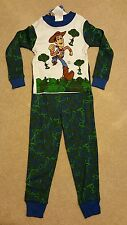 NEW NWT 2 piece Disney Store Toy Story Woody Soldiers Pajamas XS 4/5