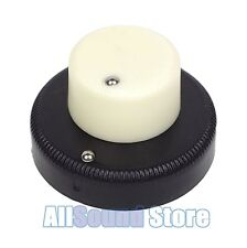 NEW Danelectro Guitar or Bass Concentric Stacked Knob Set, CREAM / BLACK