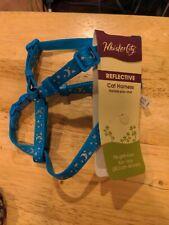 Reflective cat harness Blue