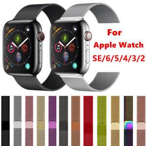 38/40/42/44mm For Apple Watch Strap Band Series 6 SE 5 4 3 2 Milanese Steel Loop