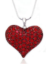 Small Red Heart Pendant Necklace Valentine's Day Birthday Jewelry GIFT BOX
