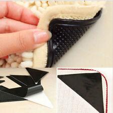 4pcs Rug Carpet Mat Grippers Anti-Slip Washable Silicone Grip Supplies Reusable