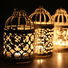 Hanging Bird Cage Candles Holder Retro Iron Candlestick Lantern Home Party Decor