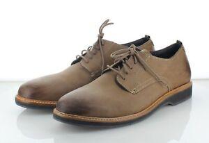 26-21 NEW $200 Men's Sz 10 M Cole Haan Morris Plain Nubuck Leather Derby- Taupe