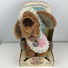 New In Box Baby Wrinkles by Ganz Dog Puppy Plush Vintage 1984