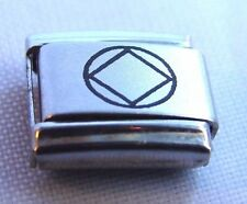 Narcotics Anonymous NA Symbol Italian Bracelet Charm Stainless Steel Link