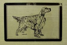 Vintage Nos English Setter Transparent Car Sticker Decal Dog Pet Karen Stolt