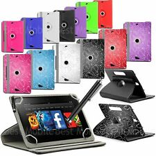 """New 360 Rotating° Folio Leather Case Cover For Android Tablet PC 7"""" 8"""" 9"""" 10.1"""""""