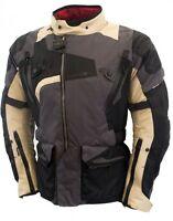 Oxford Men's Tan Desert Montreal 2.0 Textile Motorcycle Jacket -  All Season