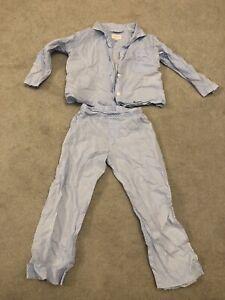 Derek Rose polka dot blue fine cotton pyjamas for summer - size 3-4 yrs /104 cm