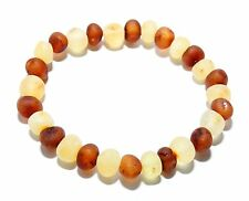 Genuine Raw Baltic Amber Beads Adult Bracelet Mixed Stretch Unpolished 6 g