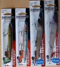 Smithwick suspending rogue jerkbait crankbait fishing lure tackle lot of 4