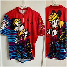 Giordana Mickey Mouse Cycling Jersey Bicycle Shirt Disney Men Sz L Made Italy A3