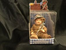 Anne Geddes Enesco Baby Girl Bear Figurine With Blue Bonnet