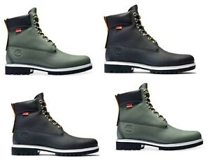 Timberland Mens 6 Inch Green Black Helcor Scratch Resistant Work Boots A2NBA NAY