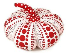 "YAYOI KUSAMA 'Dots Obsession' Soft Pumpkin Sculpture S 10"" White w/ Red **NEW**"