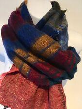 Yak Wool Scarf  Shawl Warm Thick winter Scarf. Multi Coloured.  180cm X 45cm
