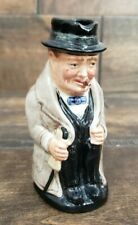 "Royal Doulton Winston Churchill Character Toby Jug Small 4"" Tall Pre-owned"