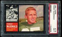 1962 Topps Football #116 TOMMY McDONALD Philadelphia Eagles PSA 7 NM