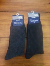 2 Pairs Men's Dress Socks  Size 10 - 13