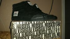 Vision Street Wear Men's Suede Hi Top Retro BLACK Skate Shoe Size US 9 NEW