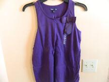 NWT Gap Kids girl sleeveless martini purple tank top w/ribbon style bow; size M