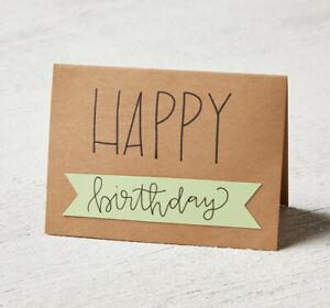 Birthday handmade card simple (used)