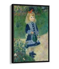 RENOIR, A GIRL WITH A WATERING CAN -FLOATER EFFECT FRAMED CANVAS ART PRINT