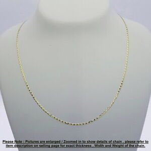 Genuine Brand new 9K Fine Italian Yellow Gold Chain Necklace 45 cm-80 cm