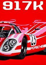 PORSCHE 917 LE MANS SPORT AUTO DA CORSA Pop Art Edizione Limitata Firmata Art Prints