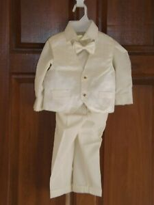 Gorgeous Collection, Boys cream christening outfit, age 2, NWT