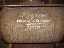 Vintage Model A Regina Pneumatic Vacuum Cleaner Wood Mounted, Bag & Lever