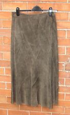BNWOT Monsoon size 10, soft green suede panelled, lined, skirt, bought 1990s