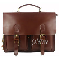 Men Genuine Leather Briefcase Laptop Bag Handbag Office Bag Messager Bag