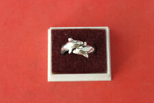 Beautiful Silver Ring 4.5 Gr. Size  - P - S -T - Only  Dolphin Design  In Box