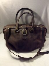 Hobo International Large Brown Leather Suitcase Bag Travel Duffel Carry-On Tote