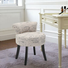 Vintage Fabric Dressing Table Chair Vanity Stool Piano Dining Chair Bedroom