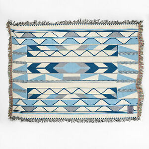 Coast Salish Woven Cotton Blanket Debra Sparrow River Design