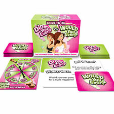 Bride to Be Did You Ever v Would You Ever Hen Party Game