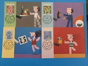 1990 - MAXI CARDS  -  COMMUNITY HEALTH SERIES  -  4v Maxi Card set (packed)