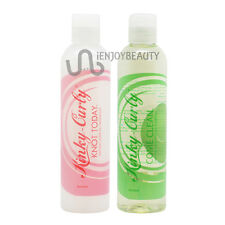 Kinky Curly Come Clean Shampoo & Knot Today Leave-in Detagler 8oz w/FreeNailFile