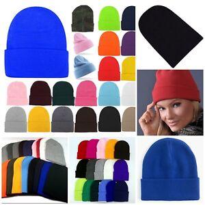 3-24 Beanie Knit Hat Winter Warm Cap Slouchy Skull Ski Hats Men Women TEEN LOT