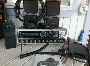 President Dwight D. CB Radio Base Station w Speakers & 2  Mobile  Radios